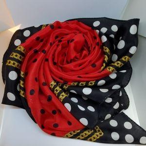 Vintage ECHO polka dot scarf